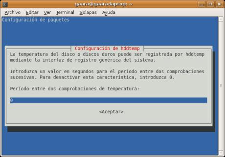 2do Paso en la Configuración de HDDTemp
