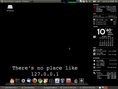 Mi escritorio de Octubre (Ubuntu Maverick)
